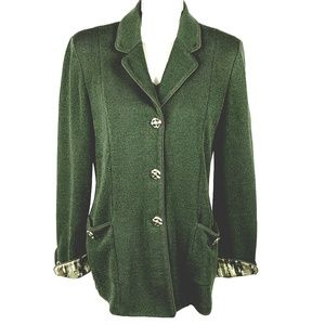 ST. JOHN COLLECTION Knit Jacket Blazer Sz 10